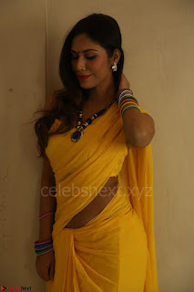 Nishigandha in Yellow backless Strapless Choli and Half Saree Spicy Pics 115.JPG