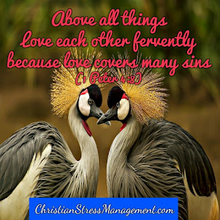 Above all things love each other fervently because love covers many sins. (1 Peter 4:8)