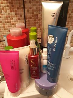 Meus Shampoos, Condicionadores e tratamentos para o cabelo
