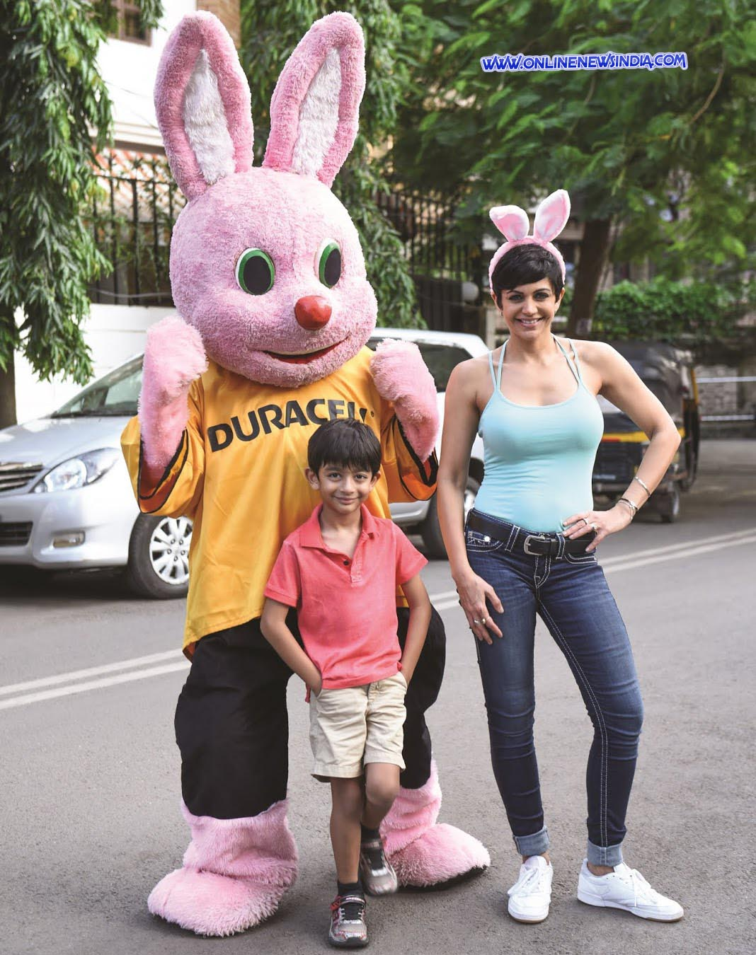 Mandira Bedi with her son Vir practicing for 2nd Durathon