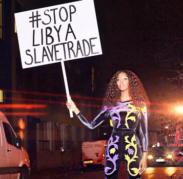 Naomi Campbell claps back at non-fan who criticized her for wearing high fashion while protesting Libya slave trade