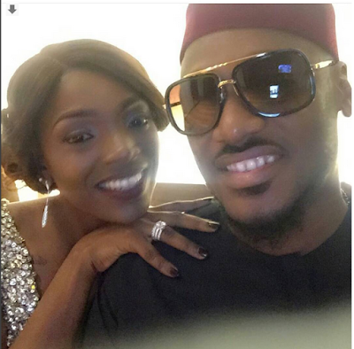 2Baba And His Daughter, Olivi Idibia Relaxing In Bed