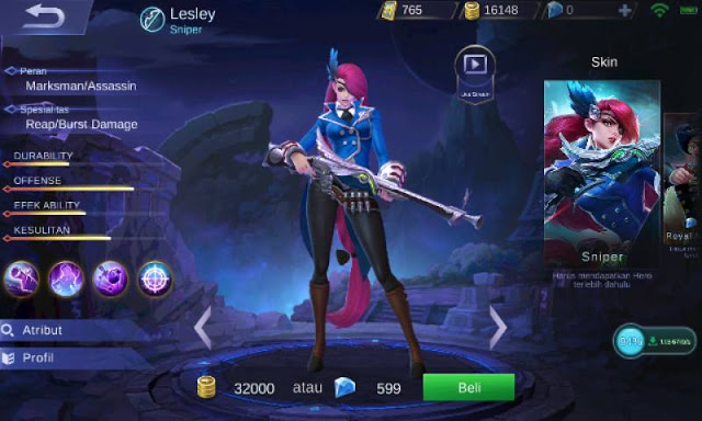 Inilah Top Guide Item Lesley Mobile Legends Penembak Jitu