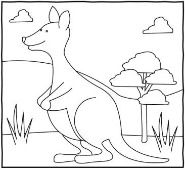 Kanguru Boyama çalişmasi 1 Sinif Görsel Sanatlar Dersi ödev Kalemi