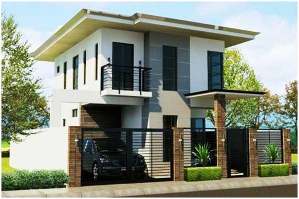 contoh gambar rumah minimalis 2 lantai modern