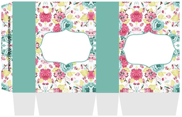 Cajas para Imprimir Gratis de Cajas del Kit Shabby Chic.