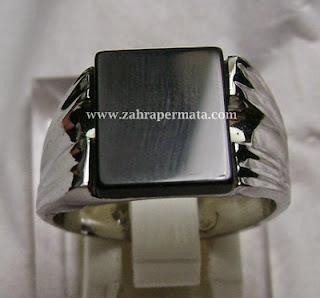 Cincin Batu Permata Black Onyx - ZP 139