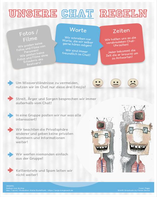 """Plakat - Unsere Chat Regeln"""" für WhatsApp und Co"""