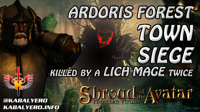 Shroud Of The Avatar Gameplay 2016 🔥 Ardoris Forest Town Siege & Killed By A Lich Mage Twice