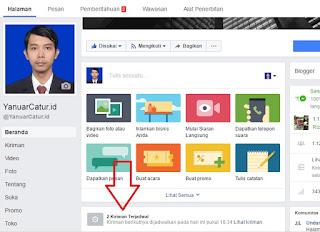 Cara Membuat Postingan Terjadwal di Fans Page Facebook