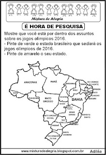 Jogos olímpicos 2016 e Estados Brasileiros