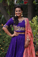 Actress Shraddha Srinath in Purple Chania Choli Cute Pics ~  Exclusive 05.jpg