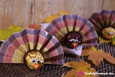 http://creativelyhomemade.com/ferrero-rocher-turkey-favors-for-thanksgiving/