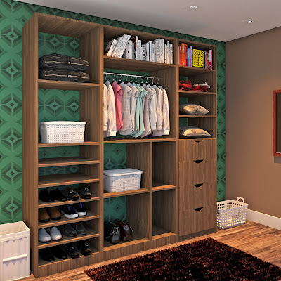 Casa nova closet est dio tudo junto e misturado for 1800 closets