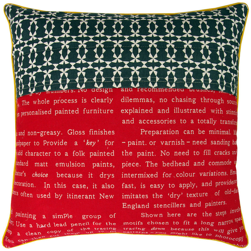 Lighthearted Kansas Dugout Pillow Cover - the back | Red Pepper Quilts 2015