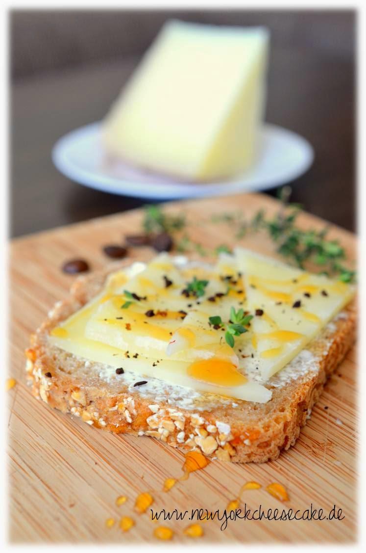 Brot, belegtes Brot, Käse, Vesper