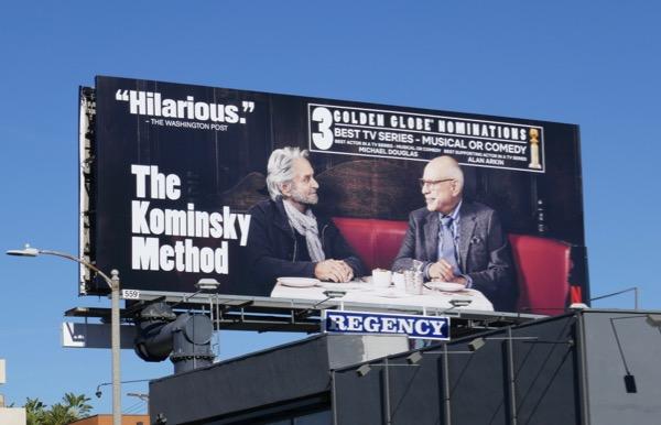 Kominsky Method Golden Globe nominee billboard
