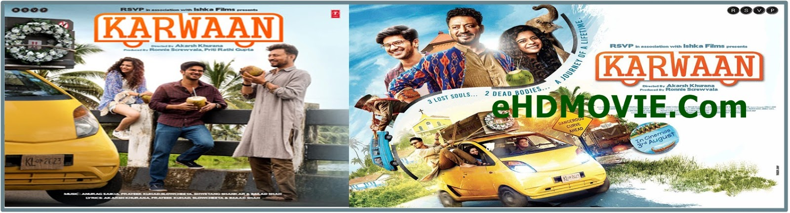 Karwaan 2018 Full Movie Hindi 1080p - 720p - HEVC - 480p ORG WEB-DL 400MB - 500MB - 1.4GB - 3GB ESubs Free Download