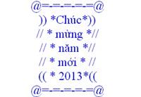 Tin nhắn xếp hình chúc mừng năm mới 2013