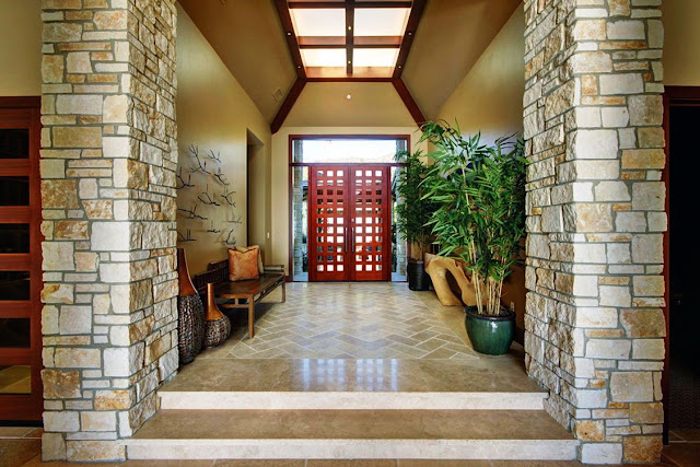 Inspirasi Desain Batu Alam Untuk Dinding Teras Rumah Minimalis Dan Modern