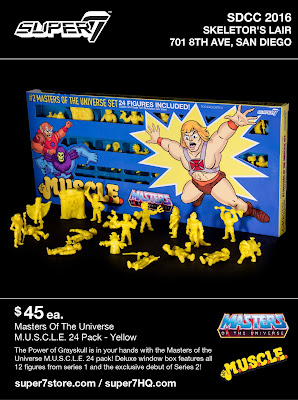 San Diego Comic-Con 2016 Exclusive Masters of the Universe M.U.S.C.L.E. Yellow 24 Pack by Super7