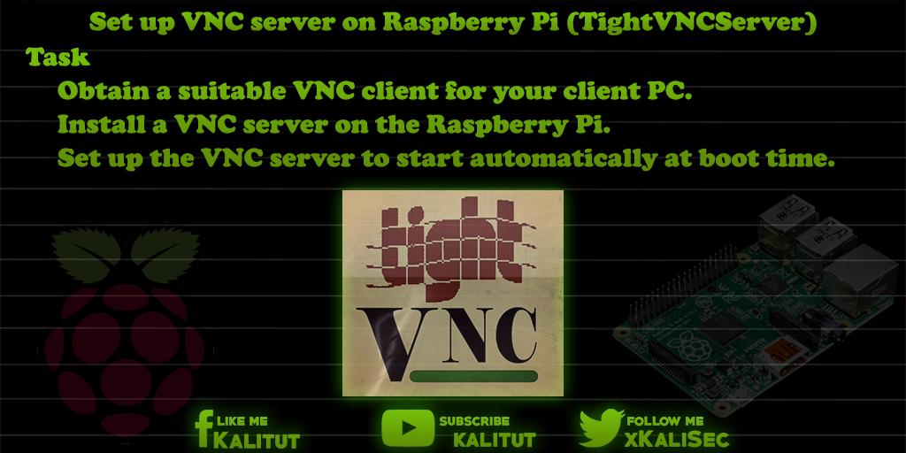 Setup VNC server on Raspberry Pi - KaliTut