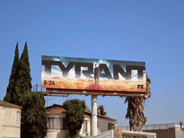 Tyrant series launch billboard