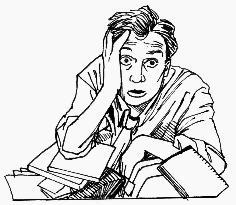 Ilustrasi orang stres