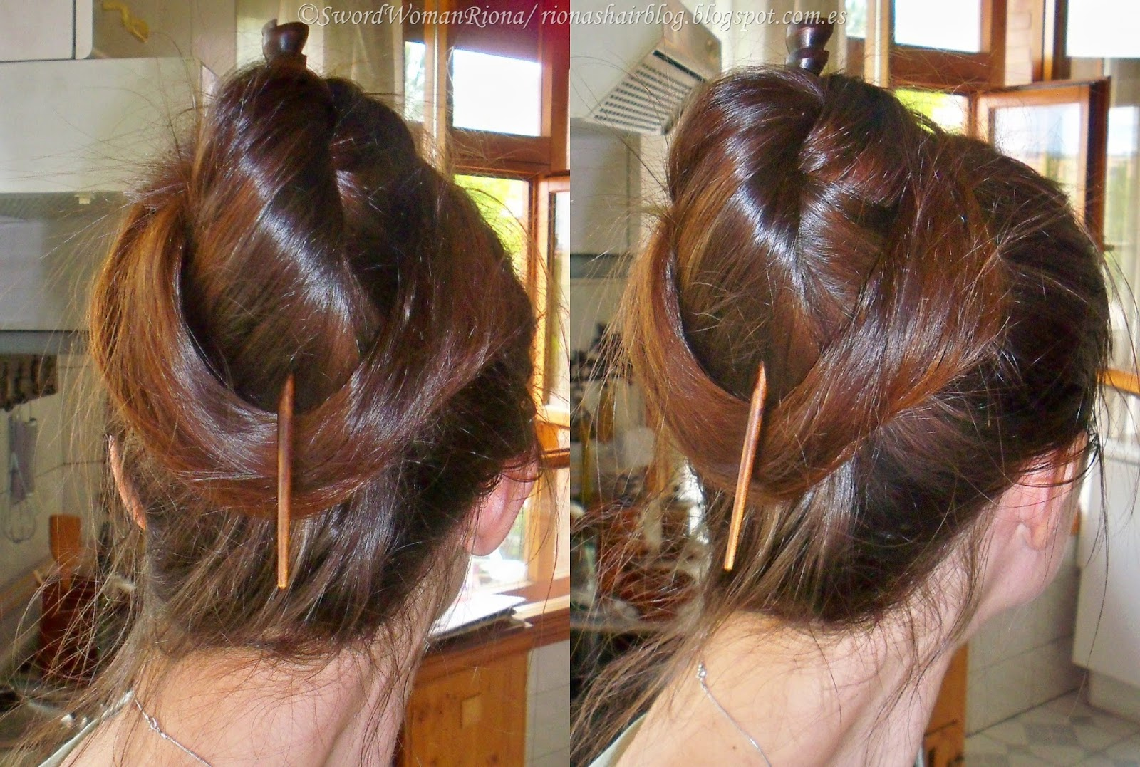 A Sword woman s Natural Hair blog  2011 15 hair  Random updos Flipped bun variation with a stick  Instead of flipping all hair before  inserting the fork o stick  here I flipped half of the hair and wrapped the  rest