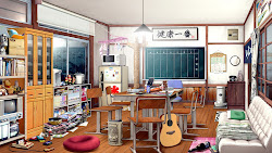 anime landscape background rooms club indoor kitchen japan scenery backgrounds cenario animelandscape landscapes อง
