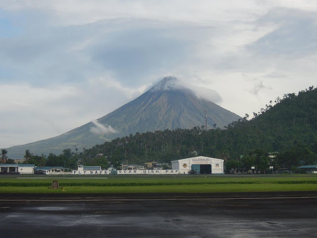Mayon Volcano as seen from Legazpi Domestic Airport in Albay
