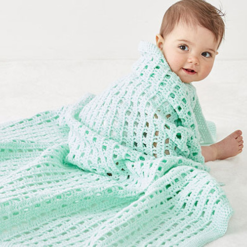 Crochet Happy Baby Blanket - Free Pattern + Tutorial