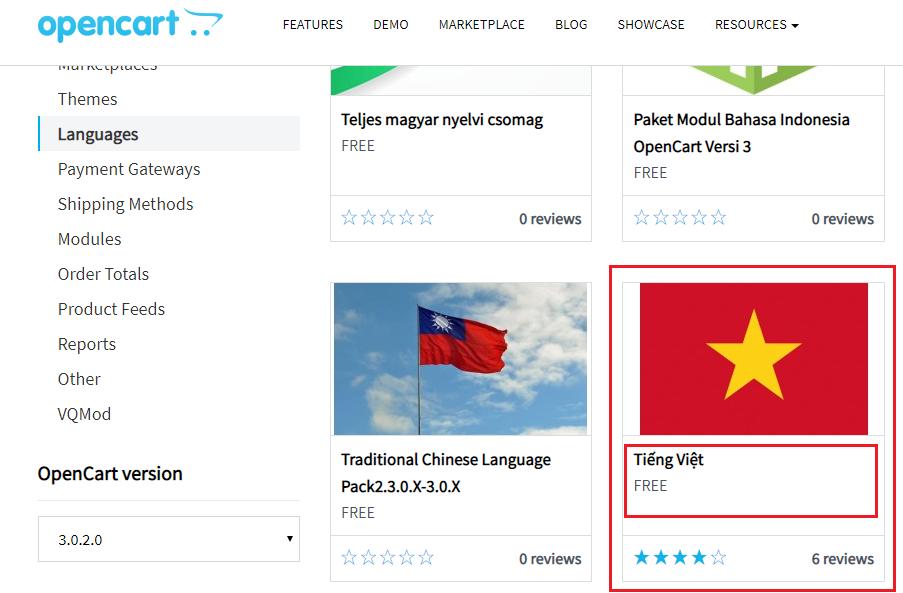 Hướng dẫn cài đặt ngôn ngữ tiếng việt cho OpenCart 3.0.2.0