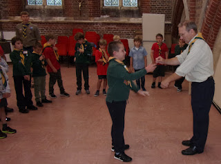 local scout group badge award ceremony