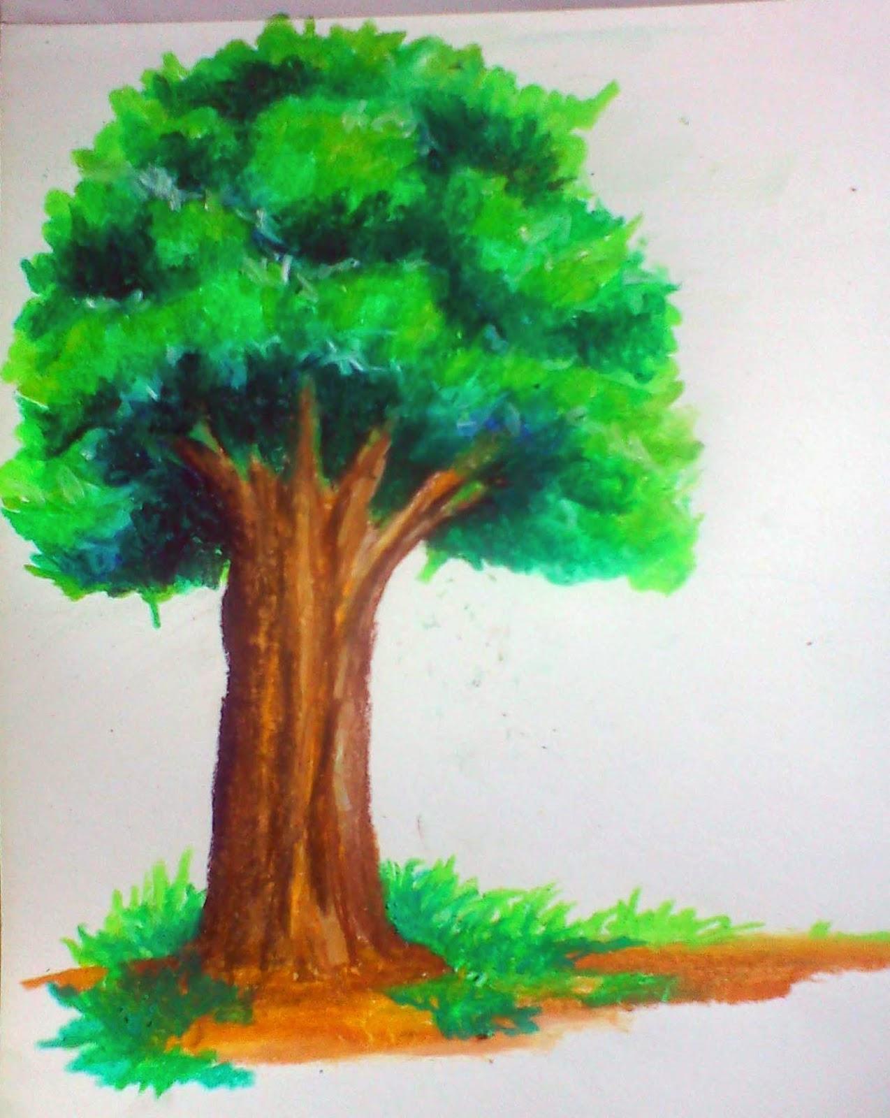 Dinsnusantara Membuat Pohon Dengan Crayon Menggunakan
