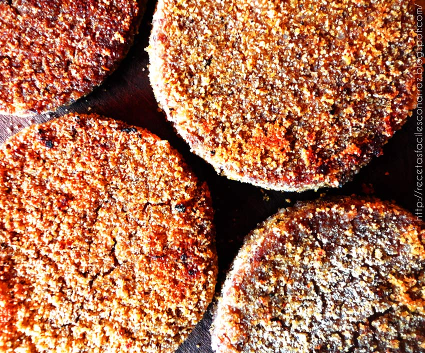 milanesas vegetarianas veganas de lentejas