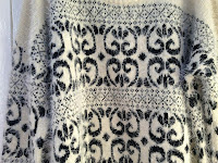 The pattern on the main body of the jumper