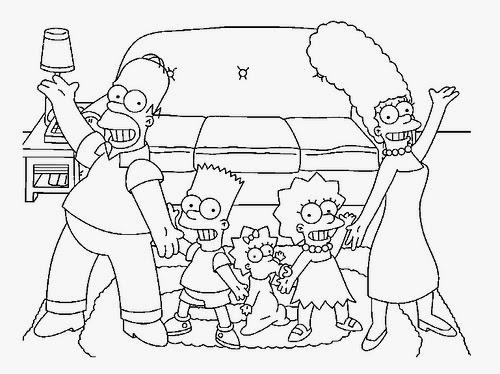 Desenhos Os Simpsons Para Colorir