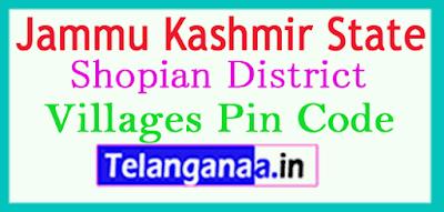Shopian District Pin Codes in Jammu Kashmir State