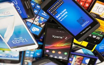 beragam merek smartphone android dan apple