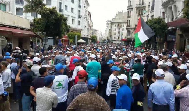 Puluhan Ribu Warga Maroko Tumpah Ruah di Aksi Bela Palestina