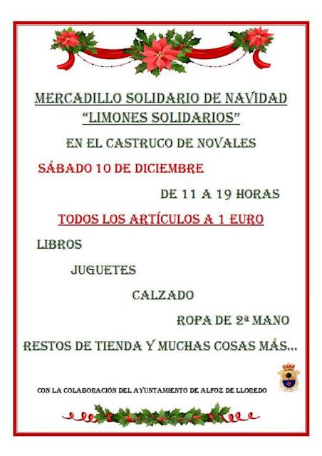 Mercadillo Solidario en el Castruco Novales