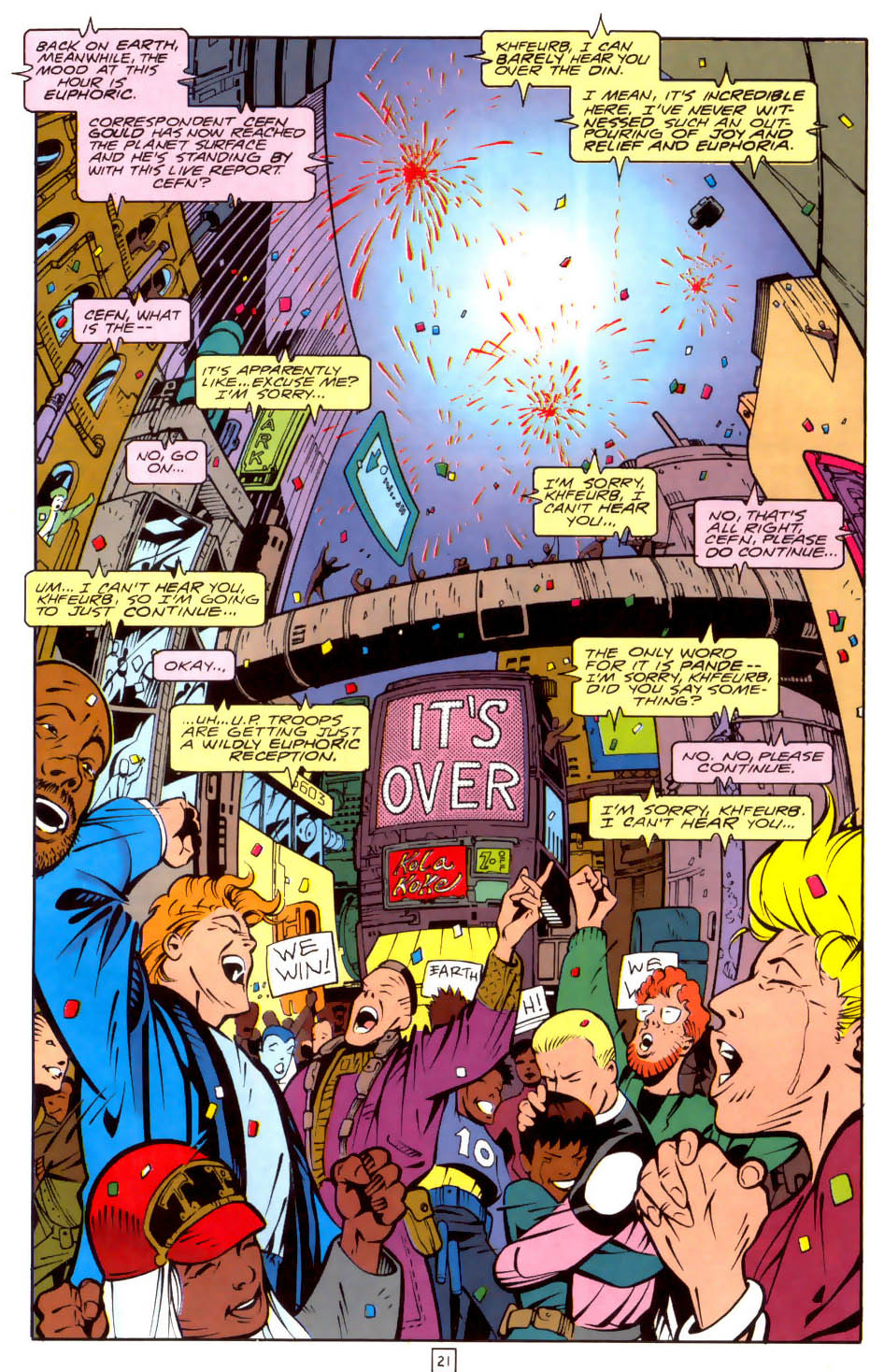Legion of Super-Heroes (1989) 35 Page 21