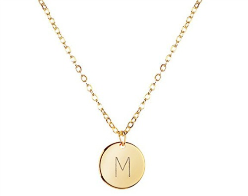 affordable teacher gifts, gift guide, teacher gifts, affordable gifts, initial necklace, necklace