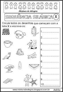 Sequência silábica, autoditados X