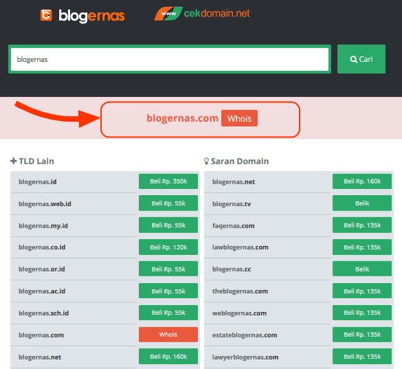Cara Otomatis Mengetahui Domain Masih Tersedia atau Tidak