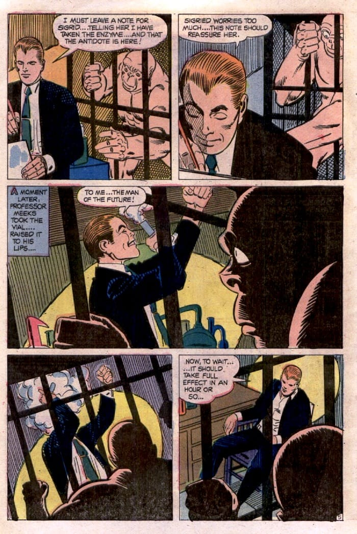 Ghostly Haunts #40 bronze age 1970s chalrton horror comic book page art by Steve Ditko