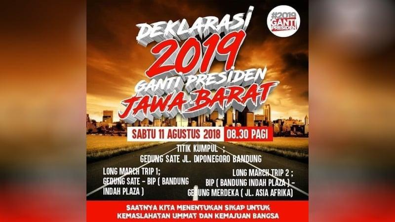 MUI Jawa Barat Imbau Tak Gelar Deklarasi #2019GantiPresiden