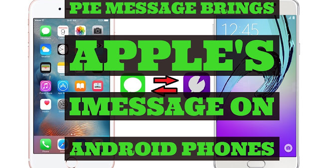 With Pie message you can communicate with any iMessage enable device like iPhone/iPad other Android phones.