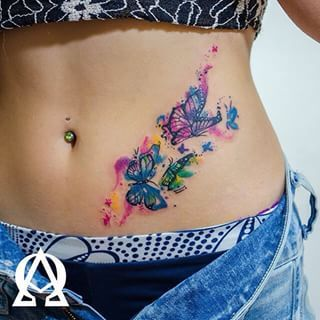 Cute Butterfly Tattoos Design For Girls